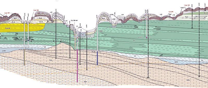 Схема геодезических исследований грунта на определение уровня подземных вод