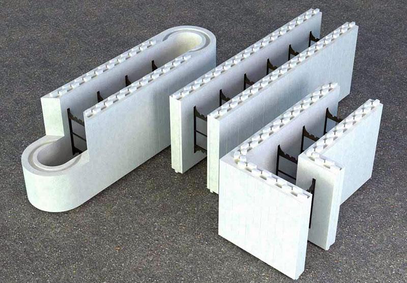 Разновидности пенополистирольных блоков несъемной опалубки