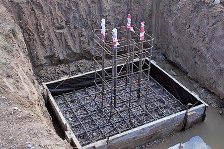 Устройство монолитных столбчатых фундаментов