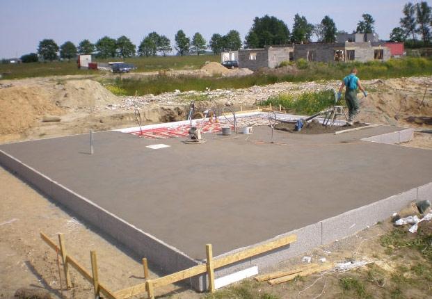 Внешний вид готовой бетонной площадки под гараж