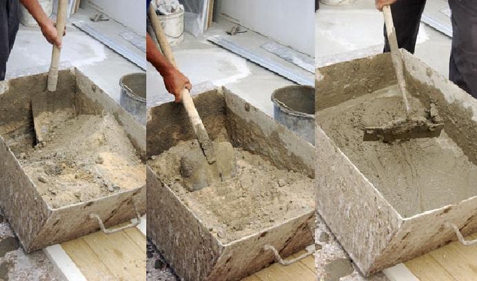 разводим цемент