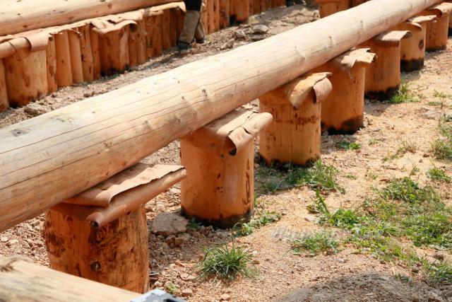 Опоры столбчатого основания из древесины