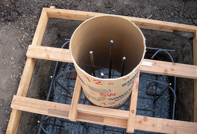 Опалубка для столбов фундамента
