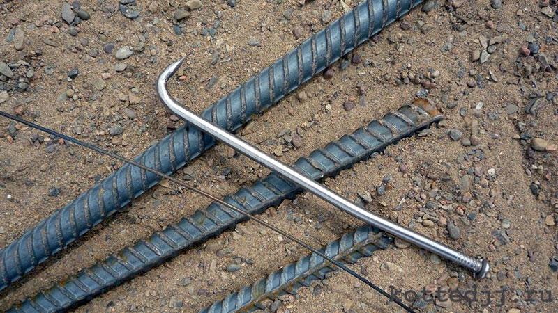 Крючок для связывания арматурных стержней