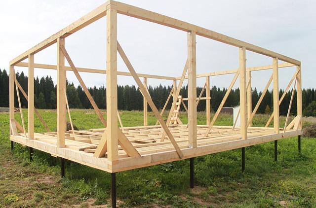 Конструкция каркасного дома рассчитана на то, что возводиться строение будет своими руками.