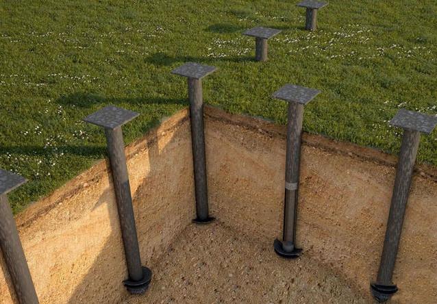 Фундамент из винтовых свай можно в кратчайшие сроки смонтировать самостоятельно.