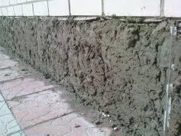 Отделка цементным раствором