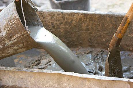 Процесс изготовления бетонной смеси.