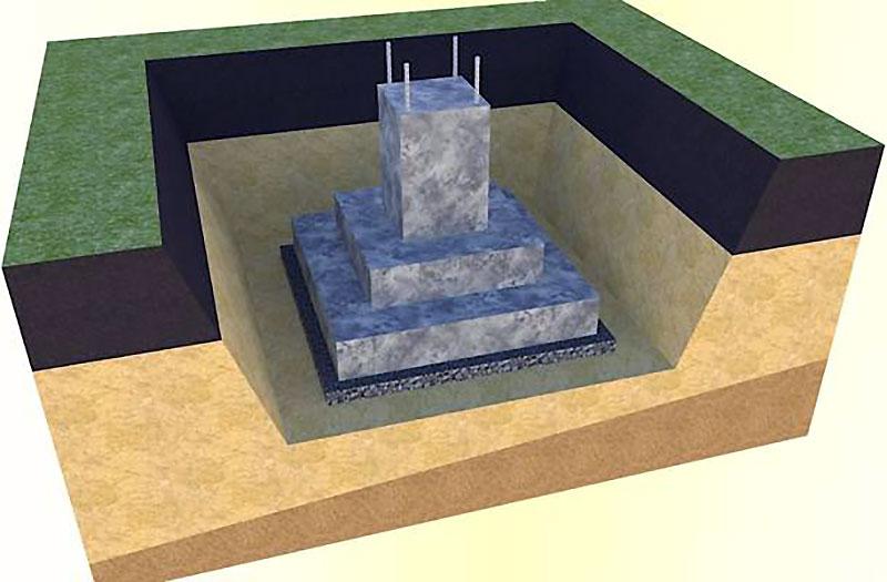 3-D схема стаканного основания