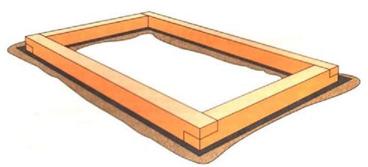 Крепления деревянных шпал фундамента