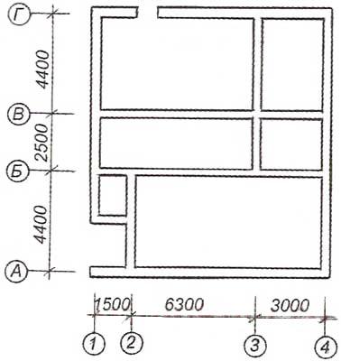 Схема ленточного фундамента.