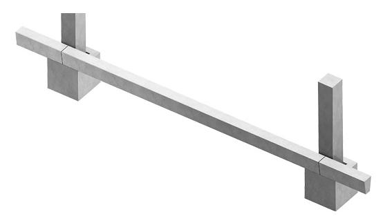 Схема установки фундаментной балки на опоры