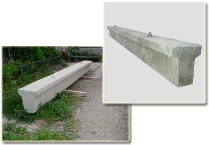 Тавровая фундаментная модель с монтажными петлями