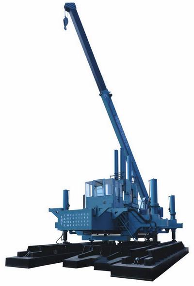 Пример самой распространённой модели сваевдавливающей машины.