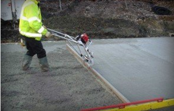 Уплотнение бетона.