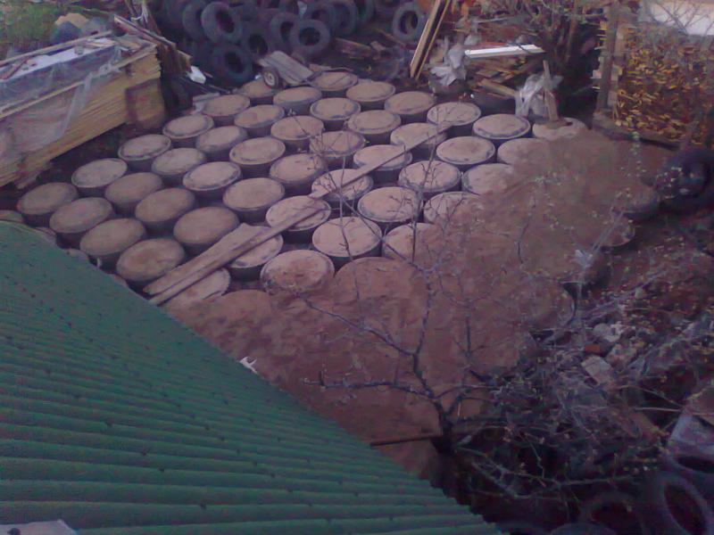 Применение фундамента из покрышек для строительства бани из бруса.