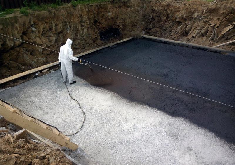 Бесшовная гидроизоляция подошвы фундамента
