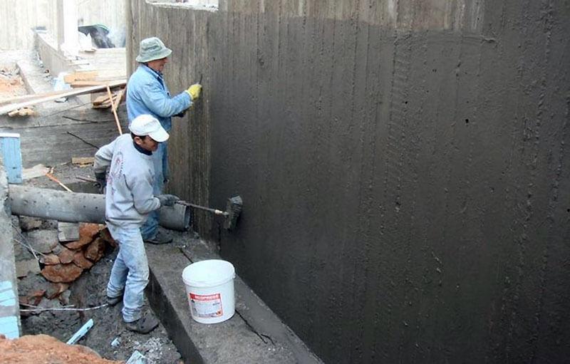 Цементная гидроизоляция фундамента