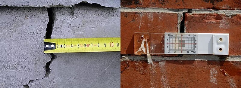 Контроль роста трещин в фундаменте