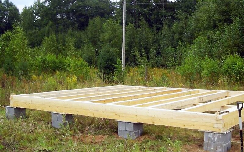Столбчатый фундамент под деревянную баню