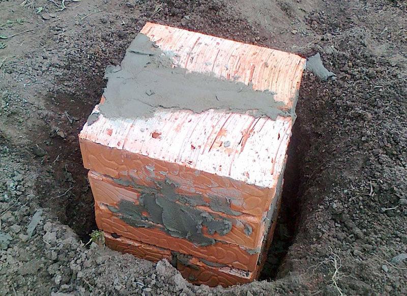 Кирпичный фундамент на столбах