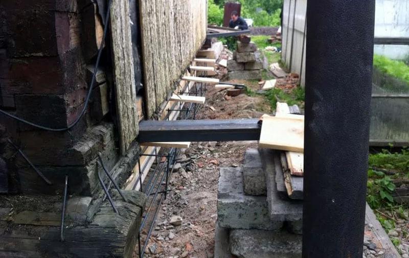 Вывешивание на временных конструкциях