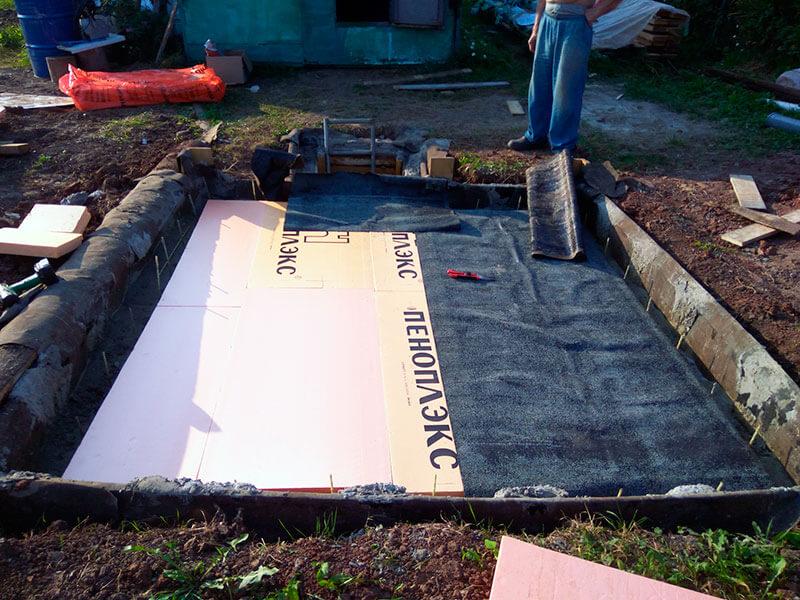 Гидроизоляция и утепление погреба